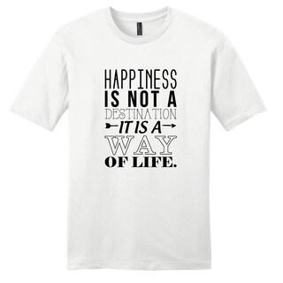 'Happiness is not a Destination' Motivational Unisex T-Shirt