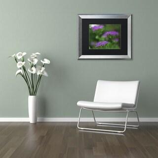 Kurt Shaffer 'Purple Seedum' Matted Framed Art
