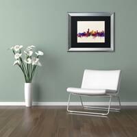Michael Tompsett 'Adelaide AU Skyline' Matted Framed Art