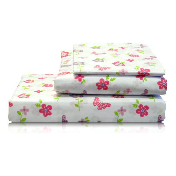 Garden Floral Printed Cotton Sheet Set