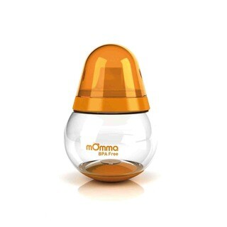 Lansinoh mOmma Orange BPA-free Silicon Spill Proof No Handle Cup