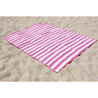 "J&M Home Fashions 60""x78"" Beach Mat For Two"