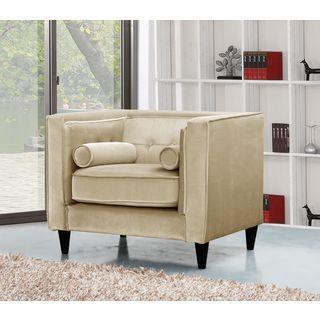 Meridian Taylor Beige Velvet Chair
