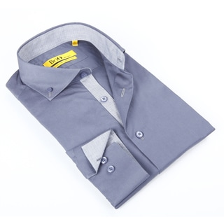 Brio Mens Chambray Solid Dress Shirt