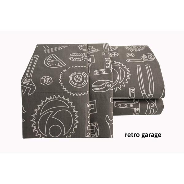 Retro Garge Printed Cotton Sheet Set