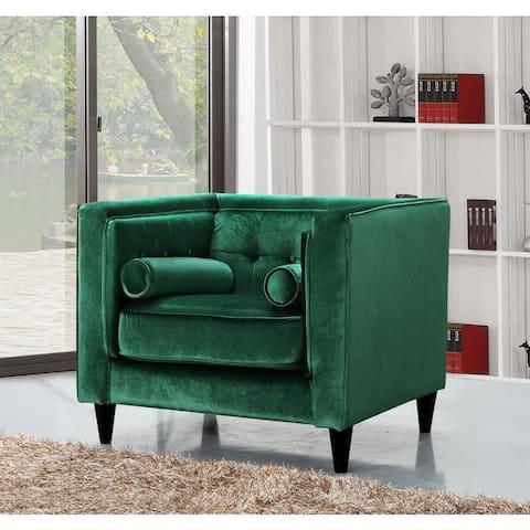 Meridian Taylor Green Velvet Chair