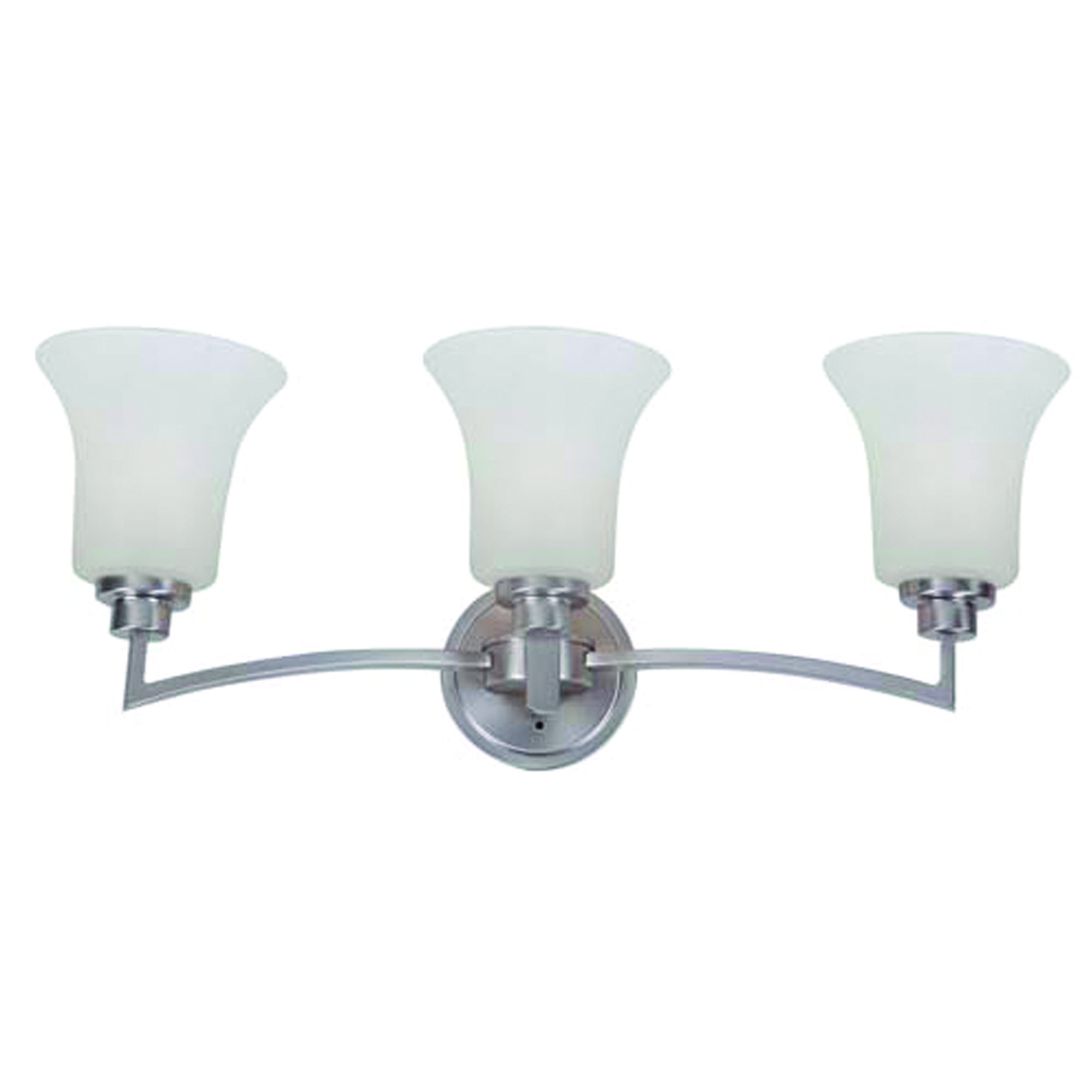 Y-Decor 'Dallin' Satin Nickel Steel 3-light Bathroom Vani...