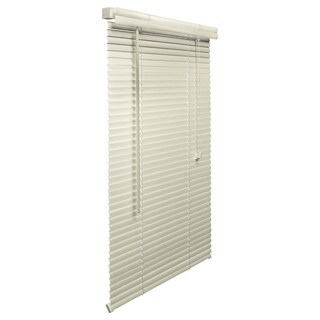 Alabaster 1-inch Vinyl Blind 22 to 30-inch wide (More options available)