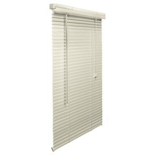 Alabaster Vinyl 11-19-inches Wide 1-inch Blind