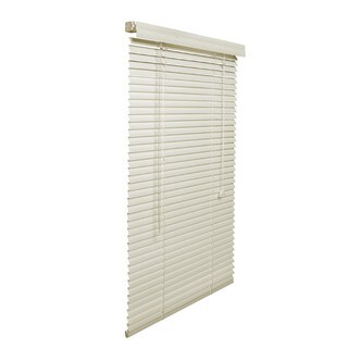 Off-white Aluminum 1-Inch Blind with Hardware