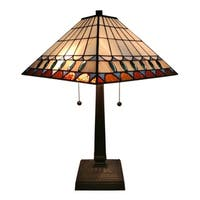 Shop Tiffany Style Jeweled Table Lamp Free Shipping