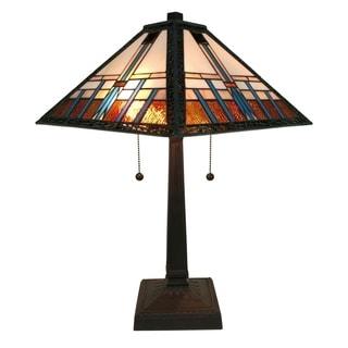 Amora Lighting AM239TL14 Tiffany-style Mission Table Lamp