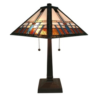 Amora Lighting AM239TL14 Tiffany-style Mission Table Lamp
