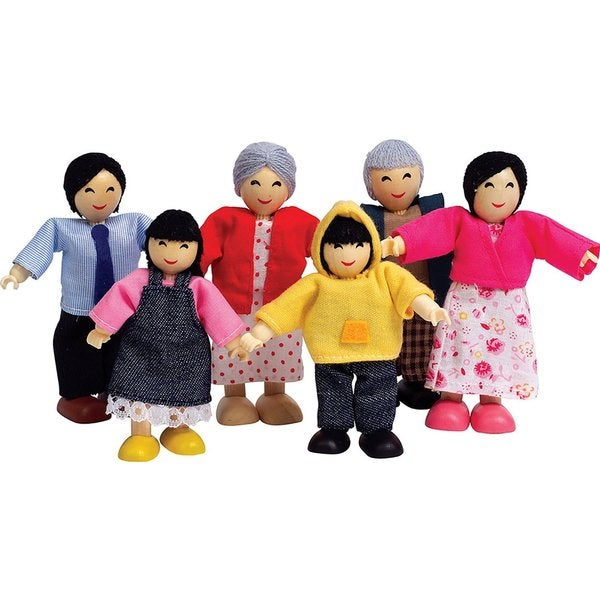Hape Happy Family Doll House Asian Doll Set