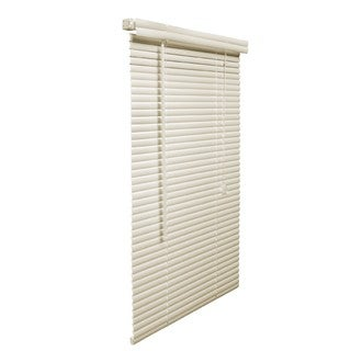 1-Inch Vinyl Plus 31 to 40-inch Wide Fade-resistant Alabaster Blinds