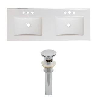 48-in. W x 18-in. D Ceramic Top Set In White Color And Drain