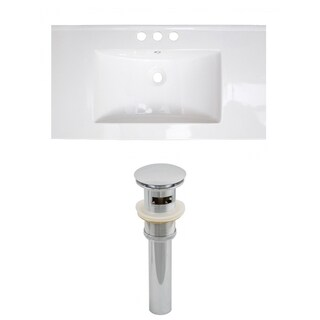 36-in. W x 18-in. D Ceramic Top Set In White Color And Drain