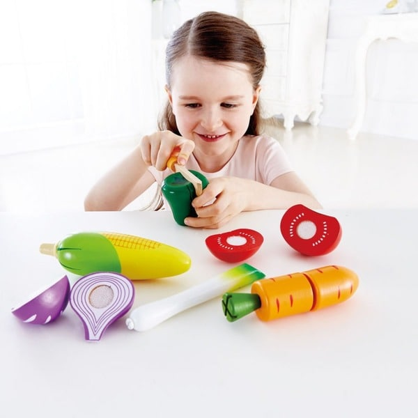 Hape Playfully Delicious Garden Wood Vegetables Play Set