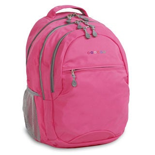 J World Cornelia Pink Polyester Laptop Backpack
