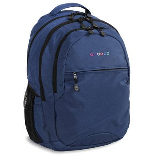 J World Cornelia Blue Polyester Laptop Backpack