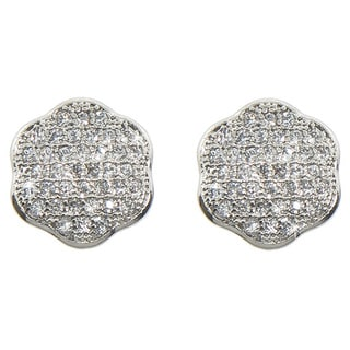 Eternally Haute Pave Clover Studs Earrings