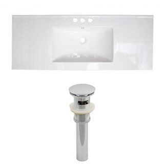 40-in. W x 18-in. D Ceramic Top Set In White Color And Drain