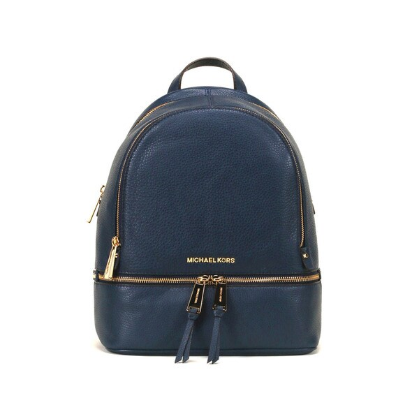ba3f047fd29bba Shop Michael Kors Navy Rhea Zip Small Fashion Backpack - Free ...