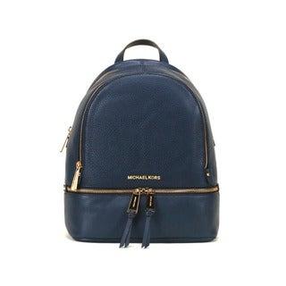 Michael Kors Navy Rhea Zip Small Fashion Backpack