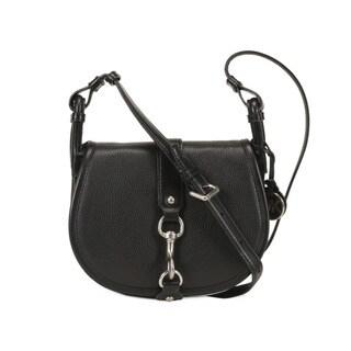 Michael Kors Black Jamie Medium Leather Saddle Handbag
