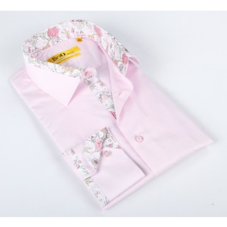 Brio Mens Pink Dress Shirt