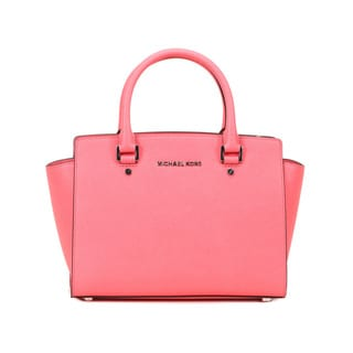 Michael Kors Coral Selma Medium Top Zip Satchel Handbag