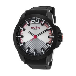 Red Line Black Zone Black/Silvertone Synthetic/Silicone/Stainless Steel Watch