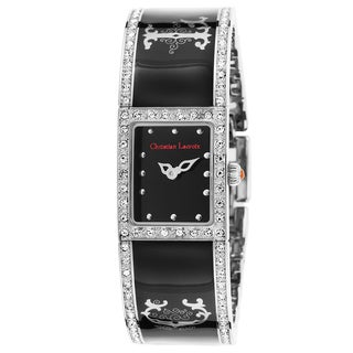 Christian Lacroix Black Mineral/Ceramic/Stainless Steel Watch