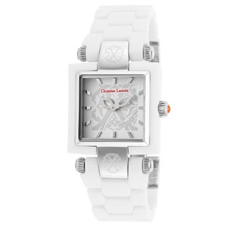 Christian Lacroix Women's White Acetate Watch with Square Dial
