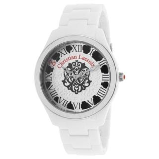 Christian Lacroix Women's White Acetate Watch