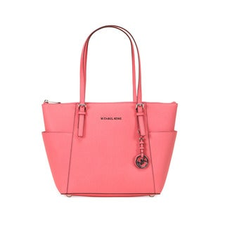 Michael Kors Coral Jet Set Item East West Top Zip Tote Bag