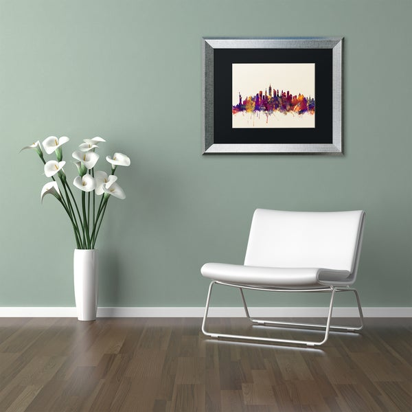Michael Tompsett 'New York City Skyline' Matted Framed Art