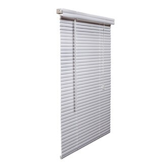 White PVC 10 to 19-inch Vinyl Plus Blinds