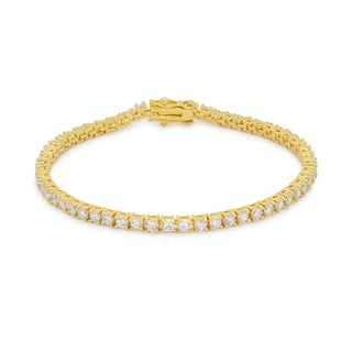Kate Bissett Gold Brass Cubic Zirconia Bracelet