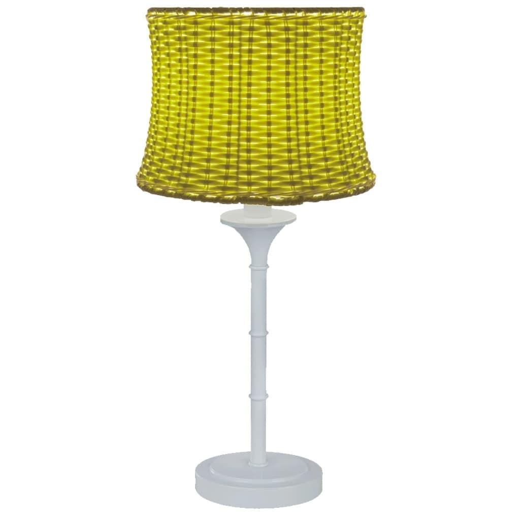 River Of Goods Metal/Plastic Outdoor Basketweave Table La...