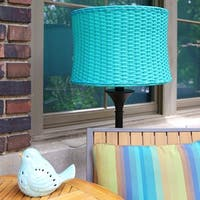 "59.5""H Outdoor and Indoor Basket Weave Floor Lamp"