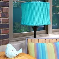 River of Goods Outdoor Basketweave Floor Lamp