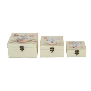 Multi-color Iron Decorative Storage Box (Set of 3)