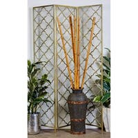 Modern 79 x 57 Inch Iron Scalloped Room Divider by Studio 350