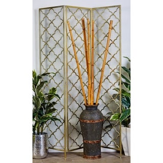 Natural Metal Wire 57-inch x 79-inch 3-panel Striking Screen