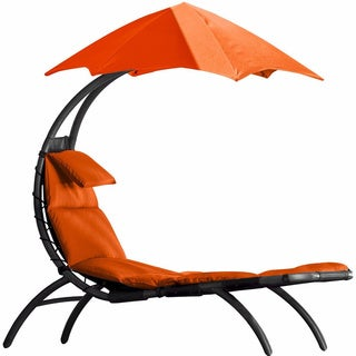 Vivere The Original Dream Orange Zest Polyester Outdoor Patio Lounger