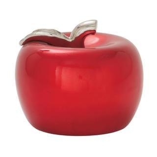 Link to Copper Grove Kitty Red Ceramic Apple Similar Items in Accent Pieces