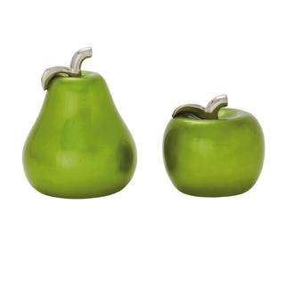 Copper Grove Kitty Green Ceramic 7-inch x 9-inch Pear and Apple Set