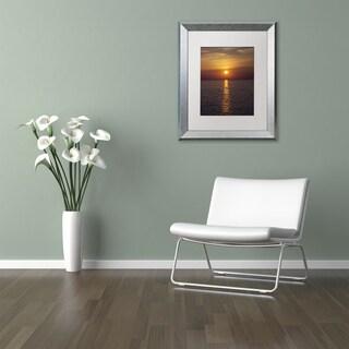 Kurt Shaffer 'Sunset Paddleboard' Matted Framed Art
