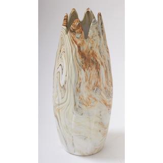Splendid Dark Marble Ceramic 6x16 Vase